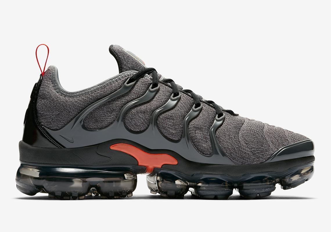 d8278d9c3d8 Nike Vapormax Plus Grey Orange 924453-012 Release Info