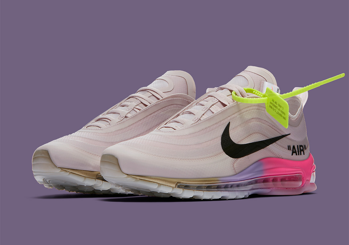 OW OFF White x Nike Air Max 97 Queen Pink Rainbow