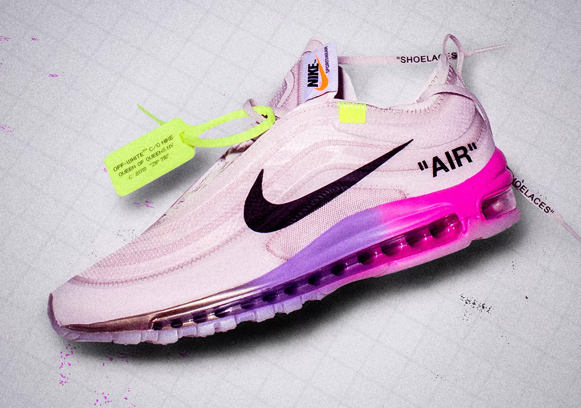 "61e6ab8c8cd9 The Off-White x Nike Air Max 97 ""Queen"" Released Just Before Serena  Williams Took The Court"