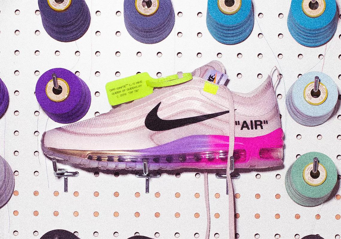 """574ec1c4b5a Where to Buy  Off-White x Nike Air Max 97 """"Queen"""". Stadium  GoodsAfter-market Prices  eBayAfter-market Prices"""