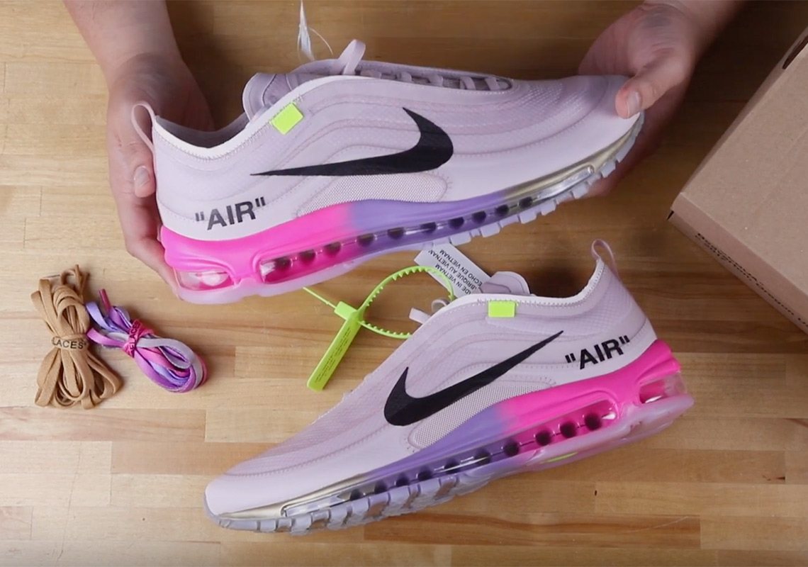 "2ed9f8ae02b5 Unboxing the Off-White x Nike Air Max 97 ""Queen"" For Serena Williams"