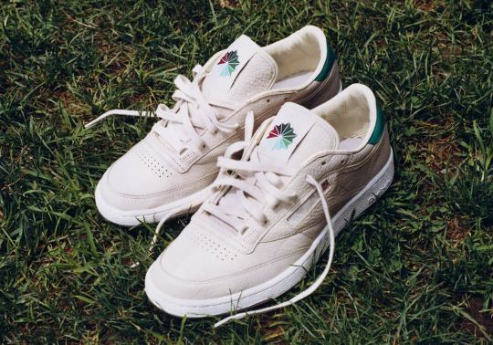 """Packer And Reebok Dress The Club C """"Marcial"""" With Cream Tumbled Leather"""