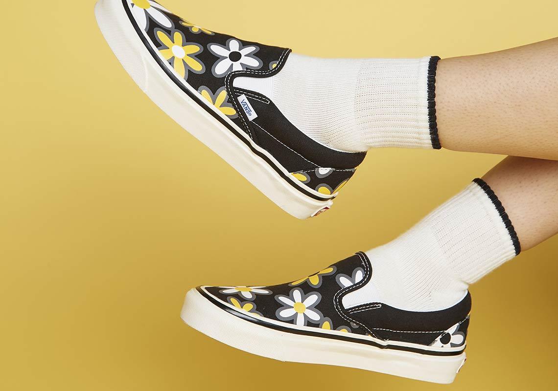 size? Vans Slip-On Floral Print