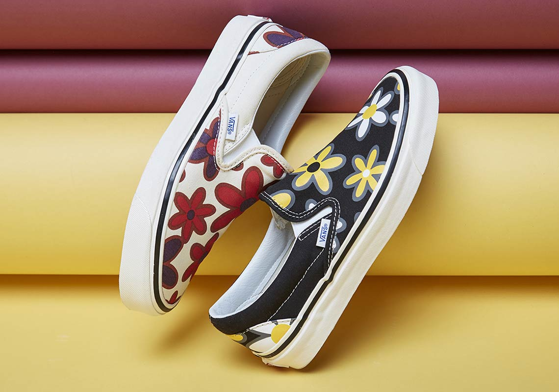 e9a92a069707 size  Vans Slip-On Floral Print Available Now