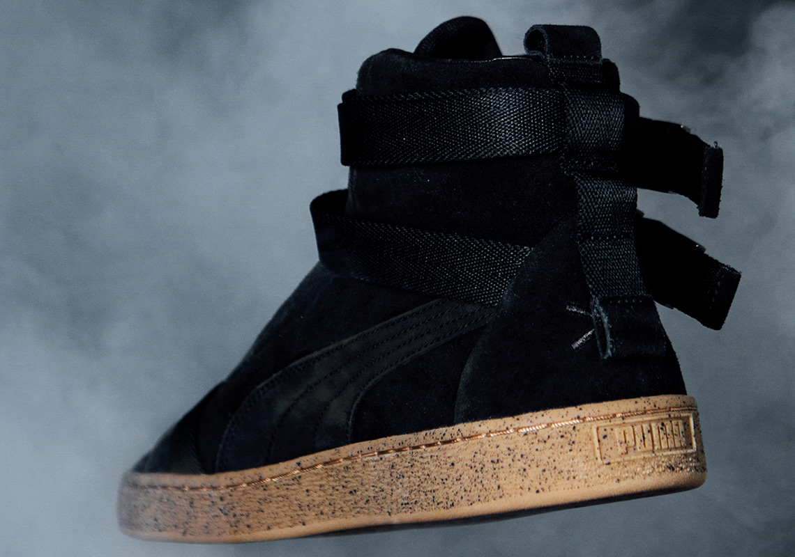 ad76c846029 Peep a detailed look at The Weeknd s take on the Puma Suede below and look  forward to its arrival at retailers on August 11th.