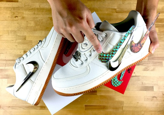 "Where To Buy: Travis Scott x Nike Air Force 1 Low ""Sail"""