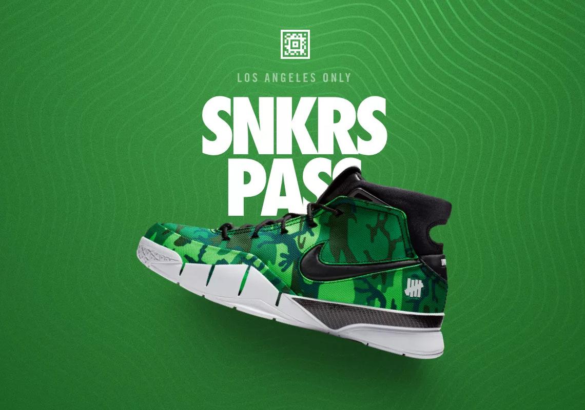 e49f4fb277f8 UNDEFEATED Nike Kobe 1 Protro Camo SNKRS Release