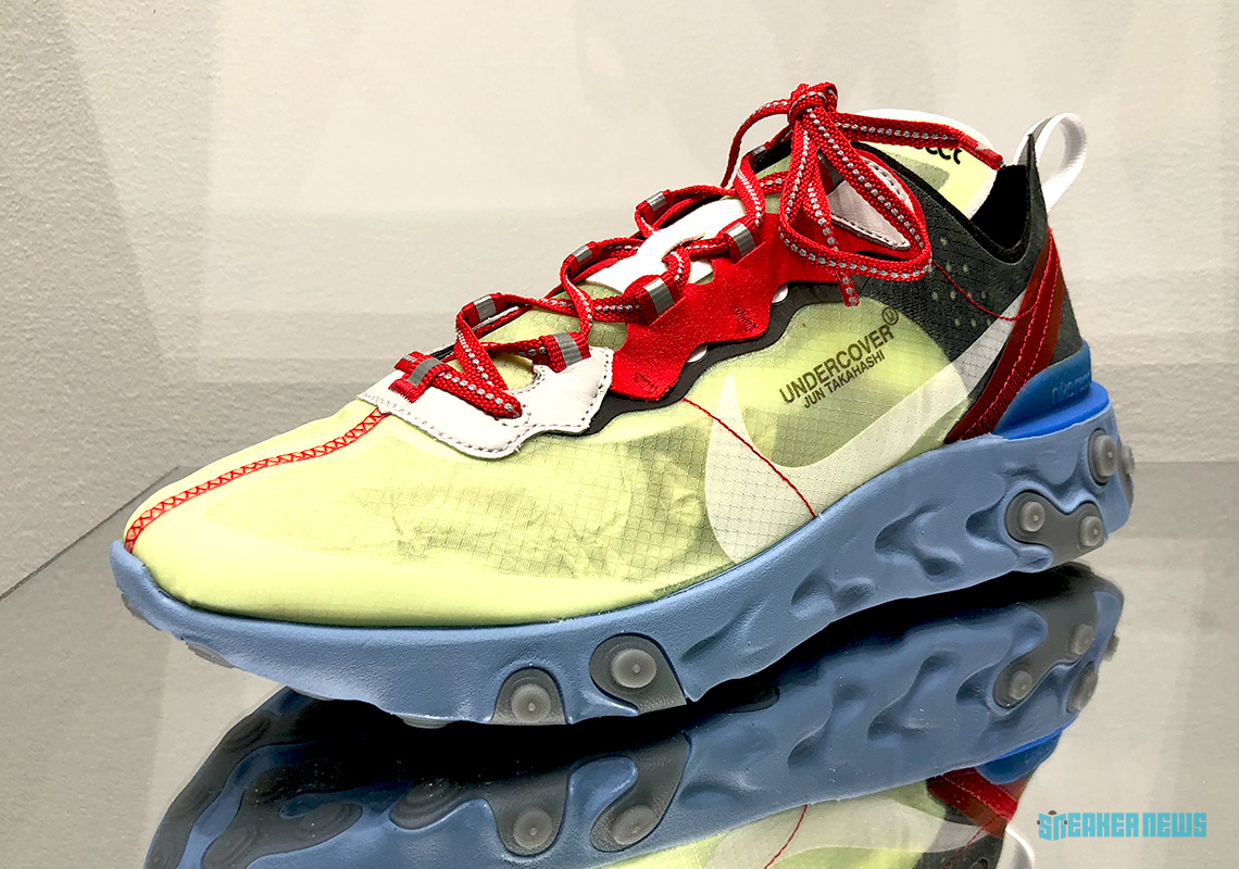 UNDERCOVER x Nike Upcoming React Element 87 Blue White Red