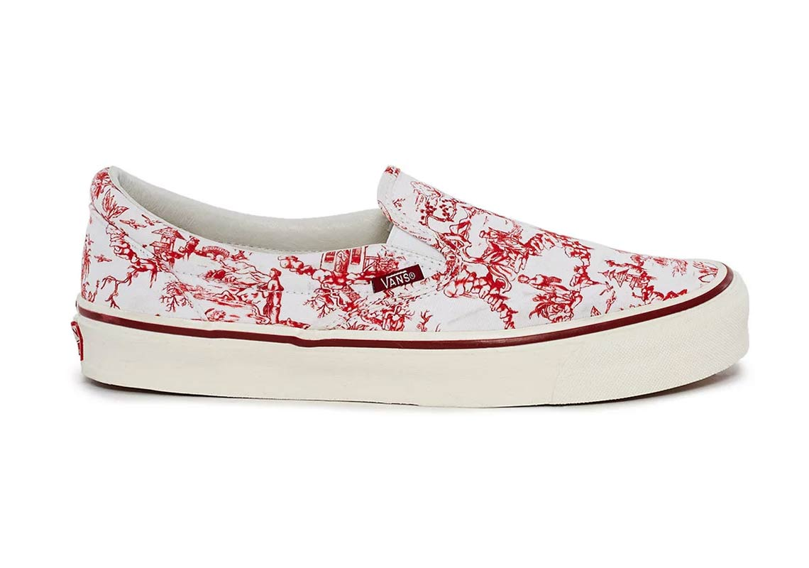 f09fc3a7d597 Opening Ceremony x Vans Slip-On LX AVAILABLE AT Opening Ceremony  75.  Color  Red Marshmallow