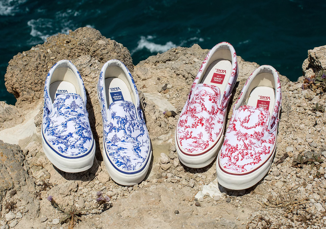 fa8615103b1c Vans Opening Ceremony Porcelain Red Blue Available Now