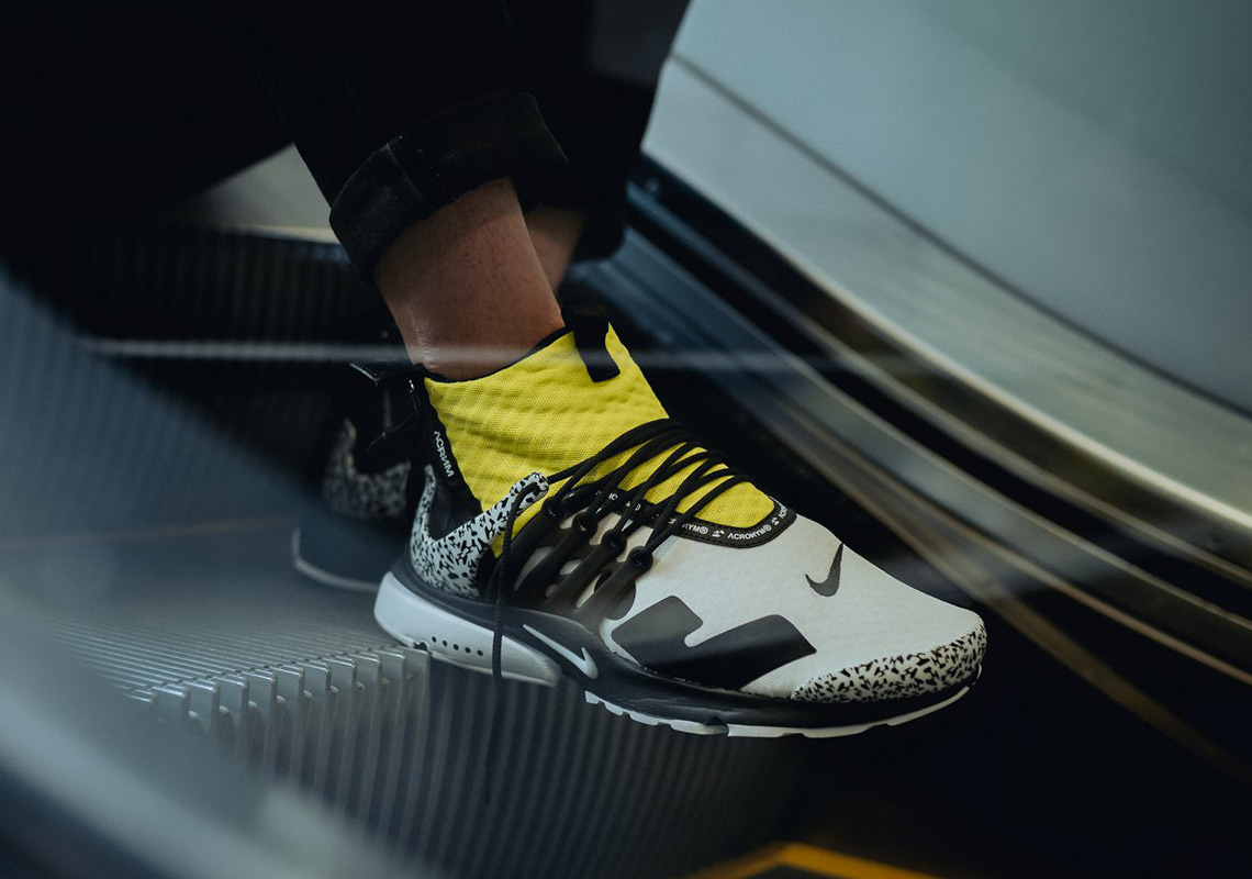 new product cfccf 91431 ACRONYM x NikeLab Air Presto Mid Release Date September 20, 2018 200.  Color WhiteBlackDynamic Yellow