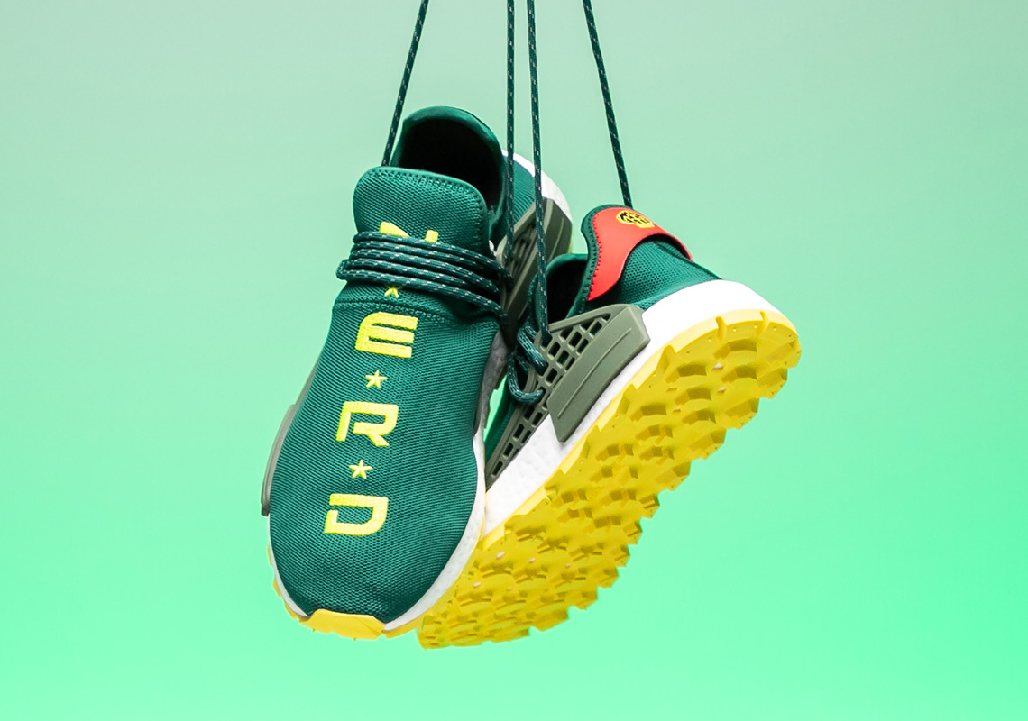 best service 10670 401d4 BBC adidas NMD Hu NERD Green Yellow EE6297 | SneakerNews.com