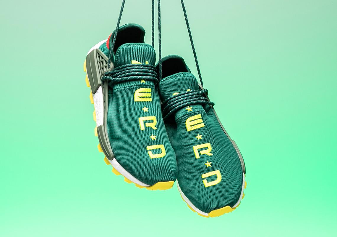 best service dc762 639c3 BBC adidas NMD Hu NERD Green Yellow EE6297   SneakerNews.com