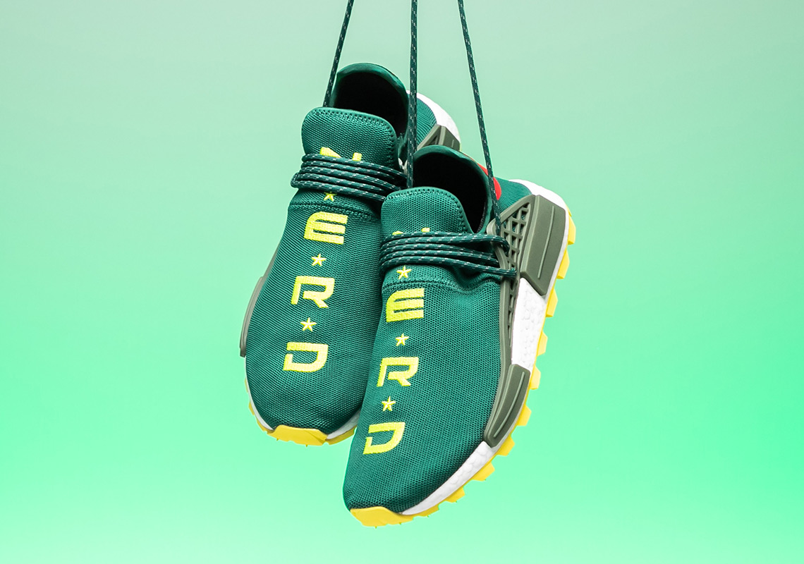 dec5d0b0c0cf2 BBC adidas NMD Hu NERD Green Yellow EE6297