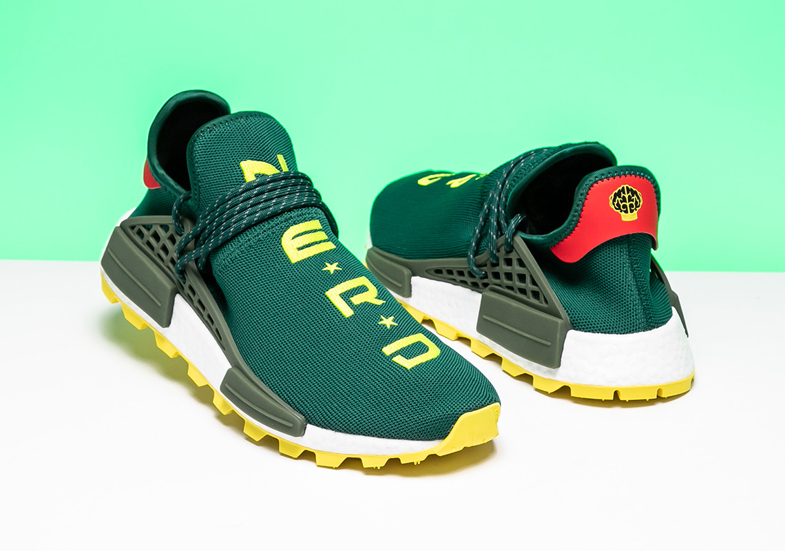 best service 59b85 7893b BBC adidas NMD Hu NERD Green Yellow EE6297 | SneakerNews.com