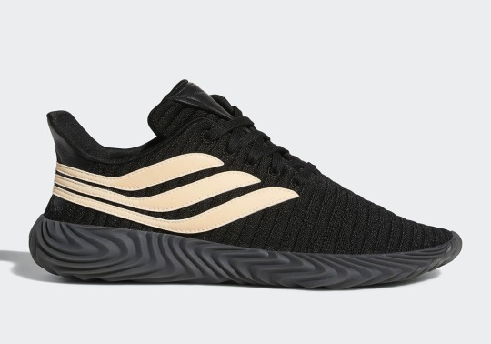 The adidas Sobakov Appears In Black And Chalk Coral
