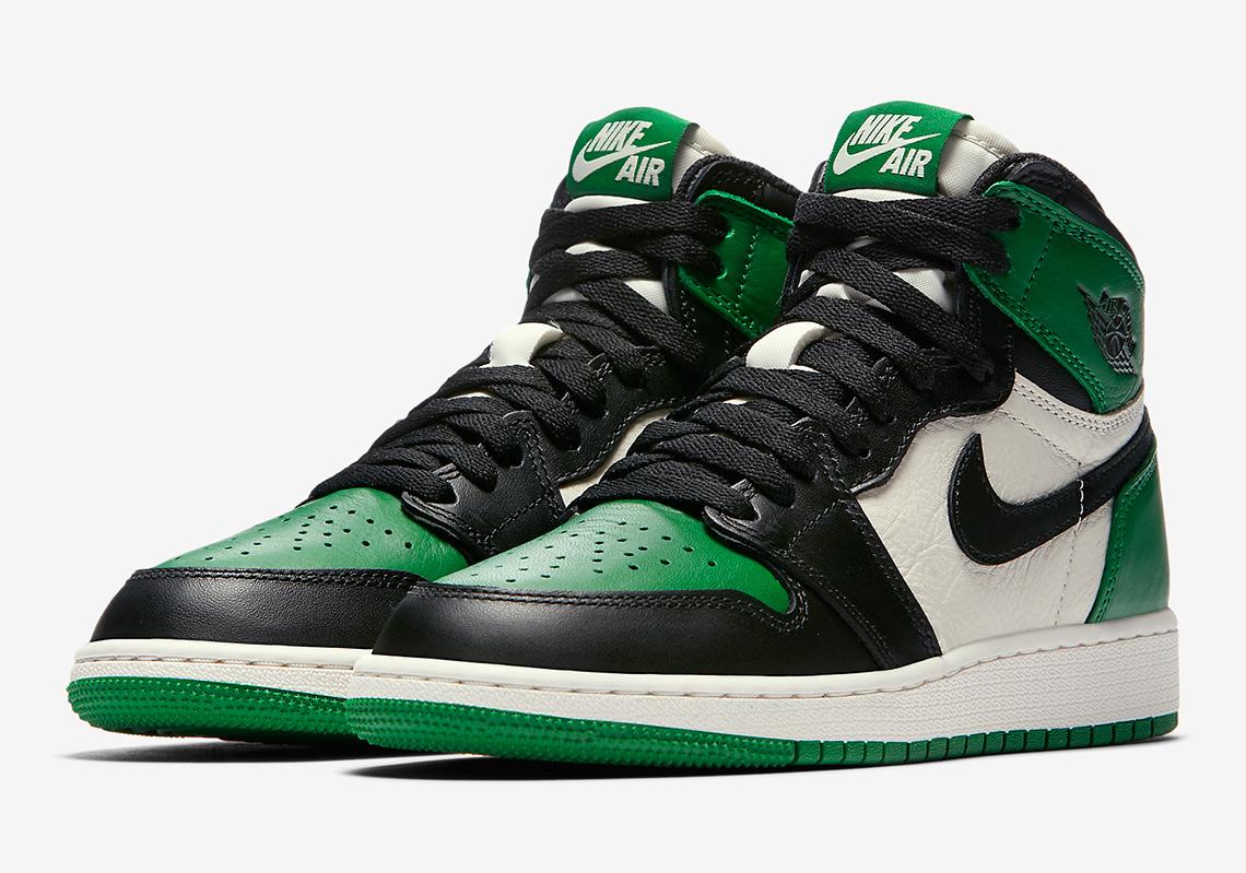 Air Jordan 1 Court Purple + Pine Green