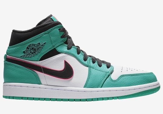 South Beach Vibes On This Air Jordan 1 Mid