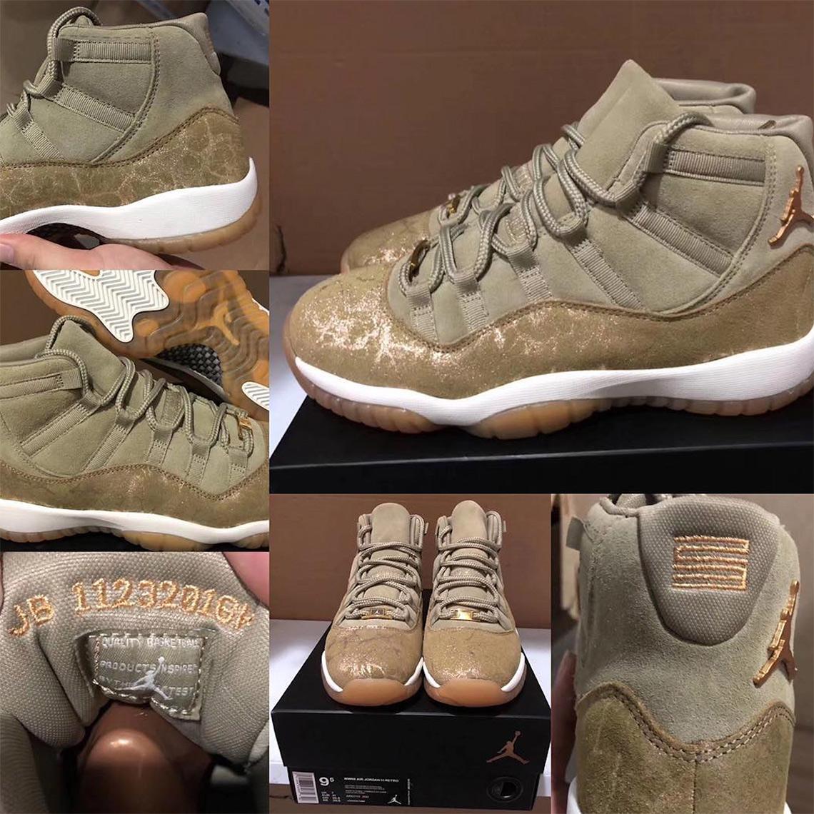 82e3237e805516 Air Jordan 11 Neutral Olive WMNS 378037-016 Release Info ...