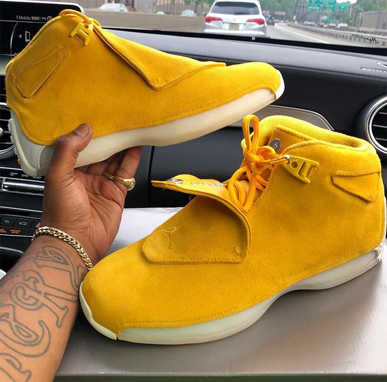 bdb2da191e50 Air Jordan 18 Suede Pack Yellow Blue Orange Release Date ...