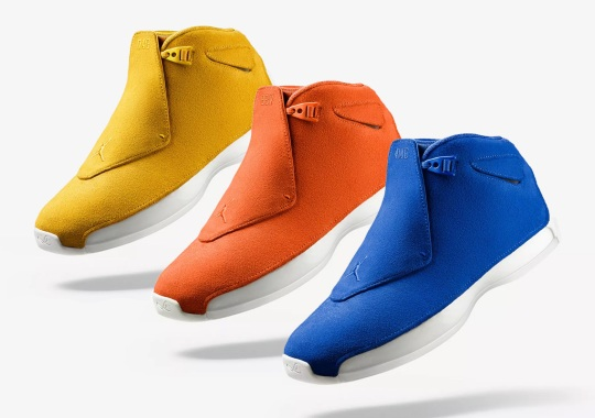 "buy online de6d2 f2795 The Numbers And Letters On The Air Jordan 18 ""Suede"" Pack Have A Hidden"