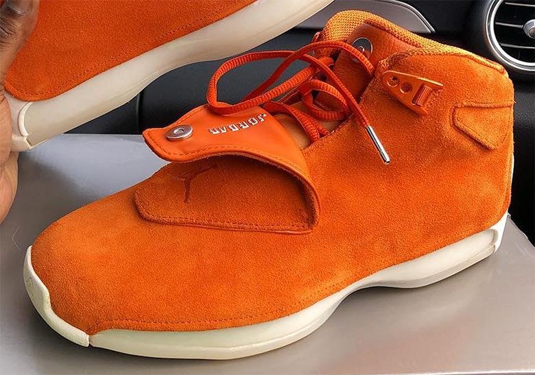 544f4c5a6435db Air Jordan 18 Suede Pack Yellow Blue Orange Release Date ...