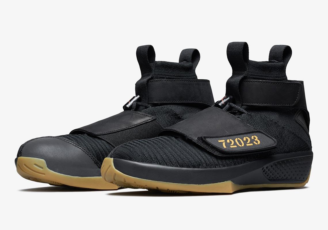 pretty nice c7f36 be70c Air Jordan 20 Flyknit Release Date  September 29th, 2018  250. Color   Black Black-Gum Light Brown