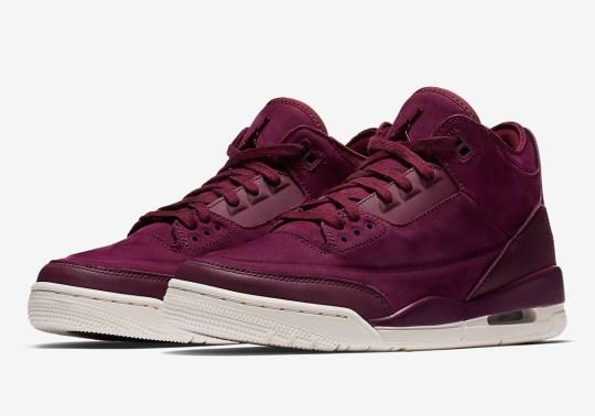 "Where To Buy The Air Jordan 3 ""Bordeaux"""