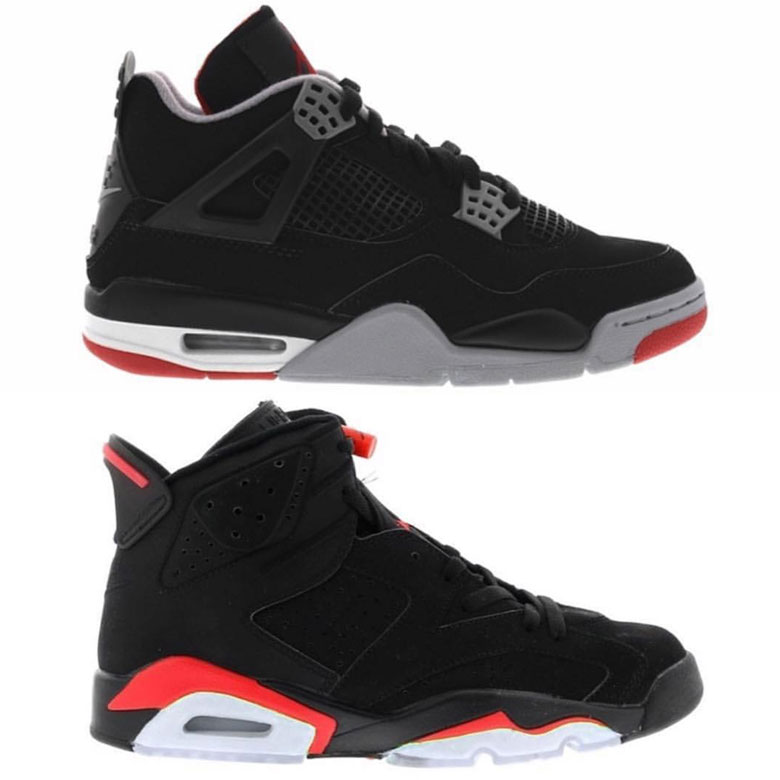Air Jordan 6. Release Date: February 16th, 2019. Color: Black/Infrared