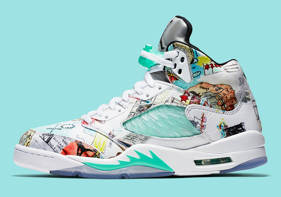 best sneakers fe958 22c4b The Air Jordan 5 WINGS Features Artwork Designed By Chicago Youths