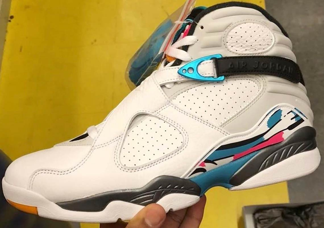 Air Jordan 8 Retro Releasing In South Beach Colors