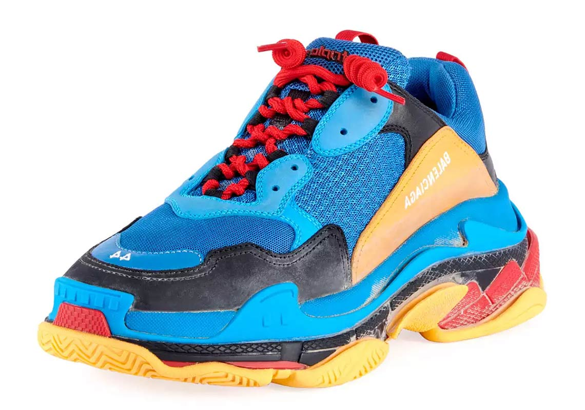 94f9ce5a788d Balenciaga Triple S AVAILABLE AT Bergdorf Goodman  895. Color  Blue Orange