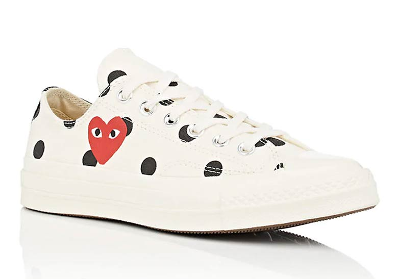 43c261a2490 COMME des Garcons PLAY x Converse Chuck 70 Low PRE-ORDER AT Barneys  135.  Color  Cream Black. show comments