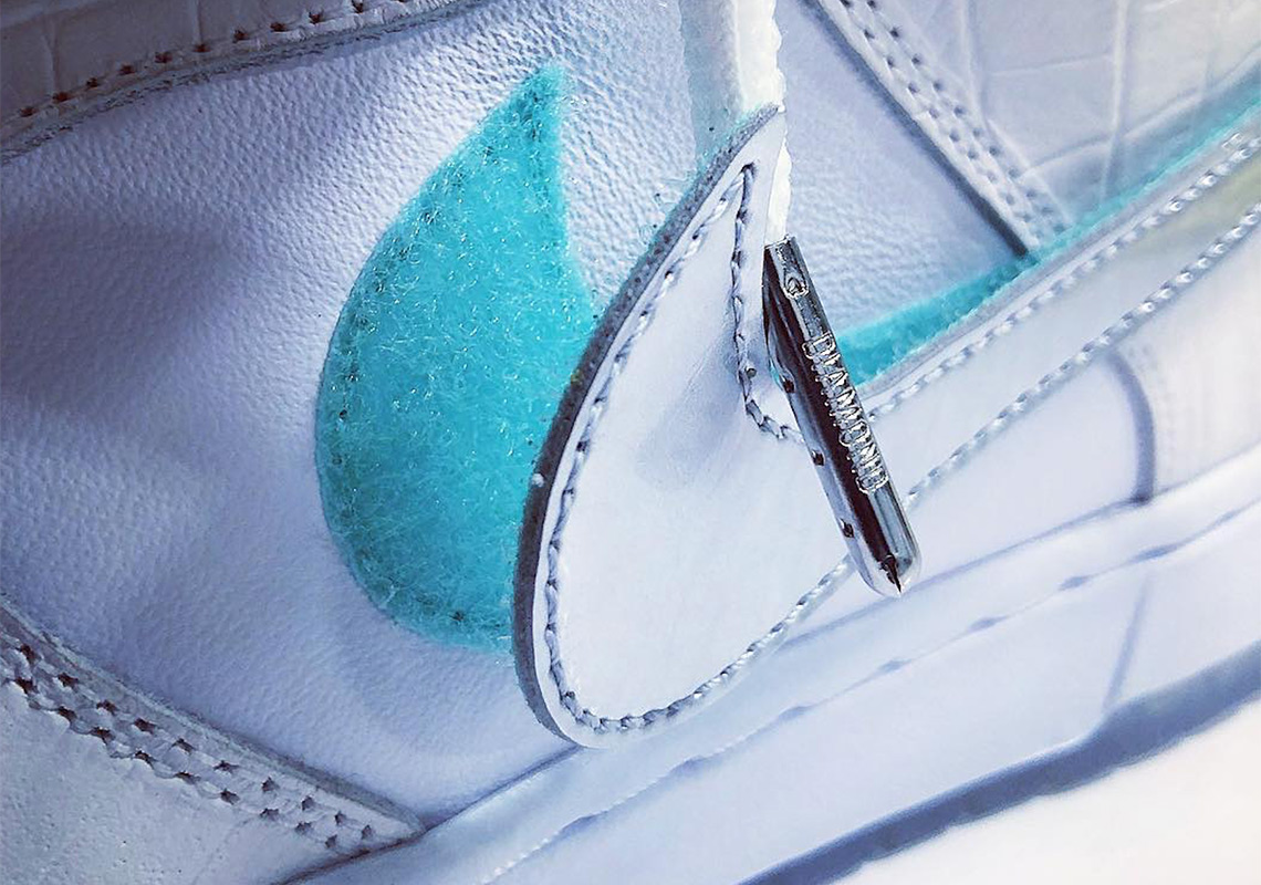 ca2d217367bd Diamond Supply Co. x Nike SB Dunk Teaser In White Surfaces
