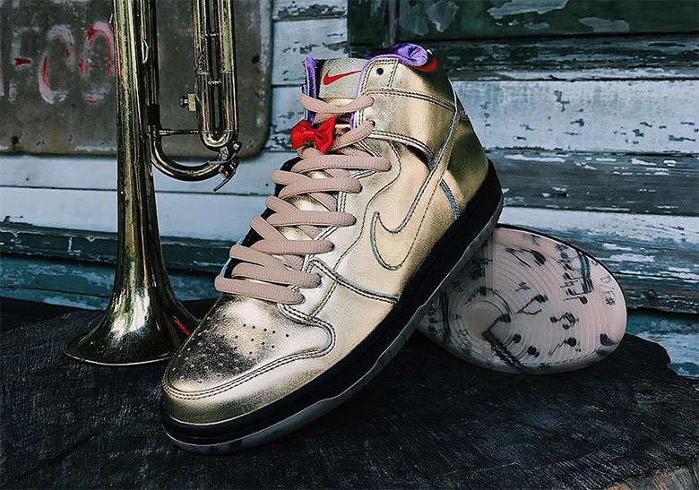 26d1649bd95e Humidity Nike SB Dunk High Jazz New Orleans Trumpet