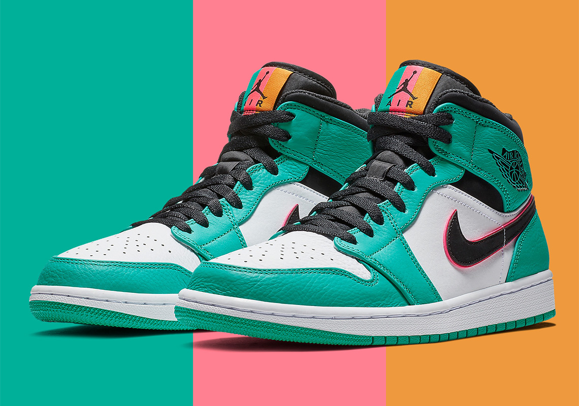 0f8bf328724 Air Jordan 1 Mid South Beach 852542-306 Buy Now | SneakerNews.com