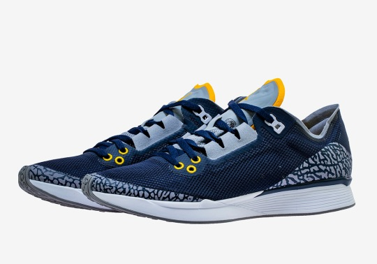 The Jordan 88 Racer Adds Collegiate Navy And Amarillo For The University Of Michigan