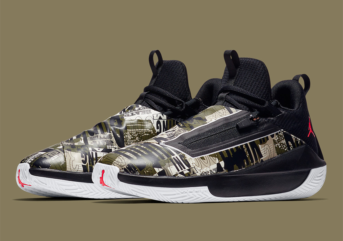 promo code 9b31d ecc9b Jordan Brand s Newest Shoe, The Hustle, Features A Collage On The Upper
