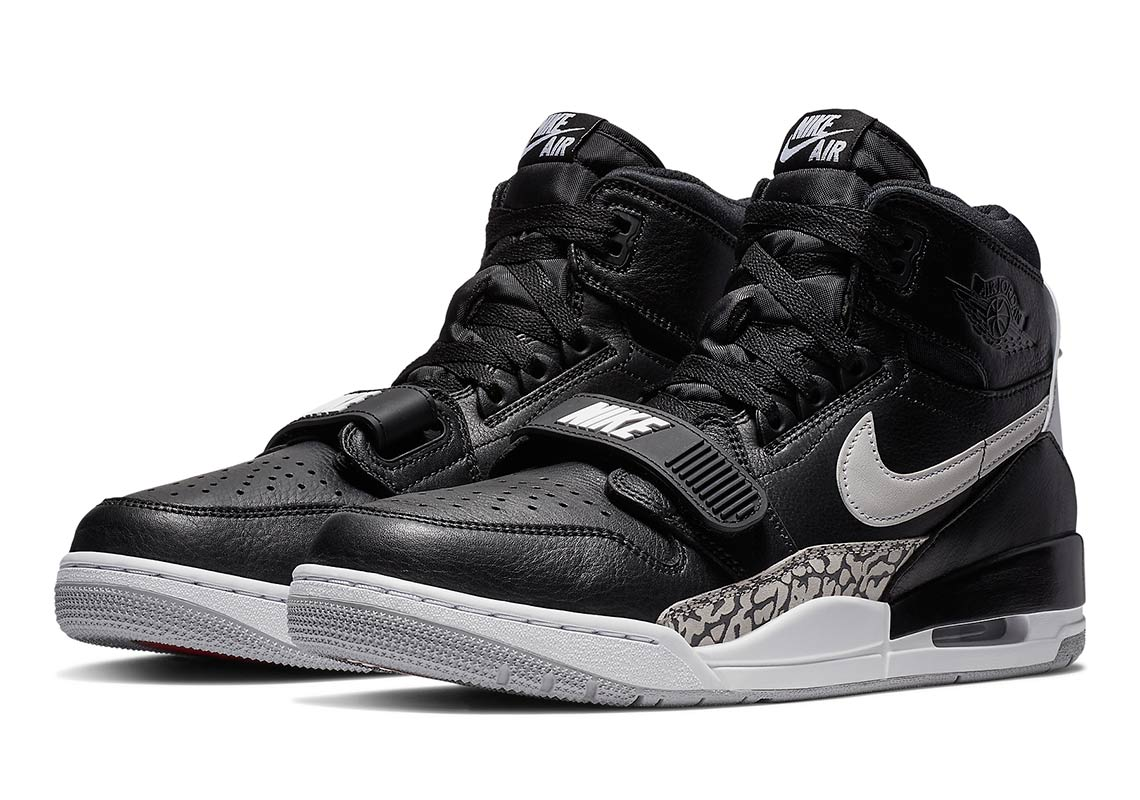 "best sneakers 9f04e 34d57 The Jordan Legacy 312 ""Black Cement"" Is Available Now"