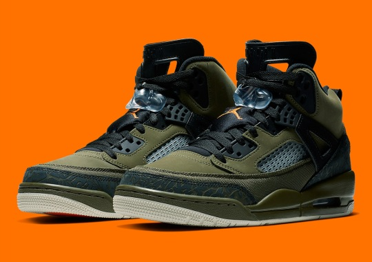The Jordan Spiz'ike Releases In A Flight Jacket Colorway