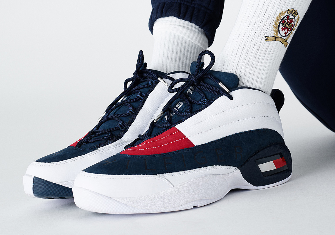 7ea74bc4bc93 KITH And Tommy Hilfger Bring Back The OG Basketball Sneaker From 1996