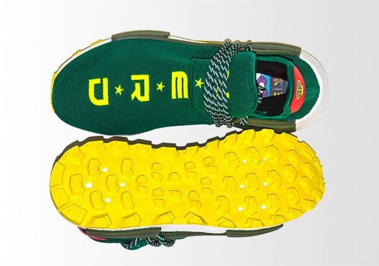 BBC Unveils Exclusive N*E*R*D adidas NMD Hu In Green And Yellow