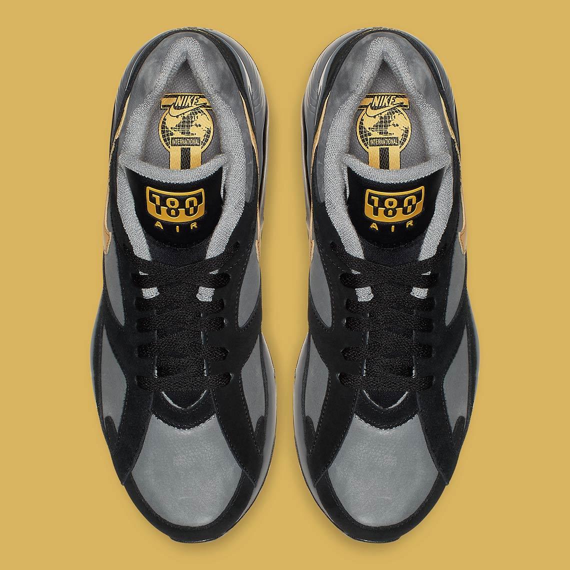 nike air 180 grey gold av7023 001 1 - Nike Air 180 Grey + Gold AV7023-001 Release Info