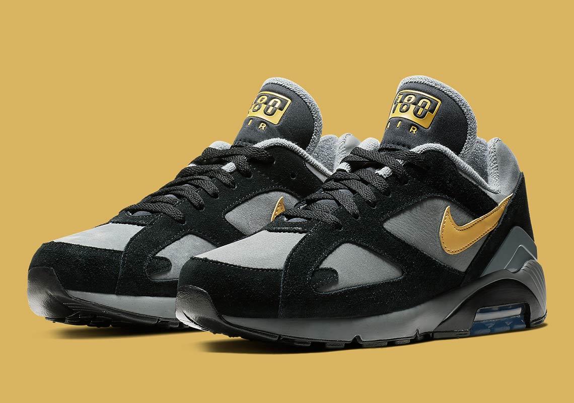 nike air 180 grey gold av7023 001 3 - Nike Air 180 Grey + Gold AV7023-001 Release Info