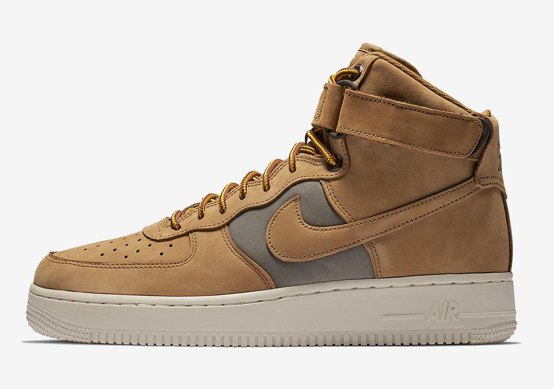 nike air force 1 high 525317 700 1 - Nike Air Force 1 High Wheat 525317-700 Release Info