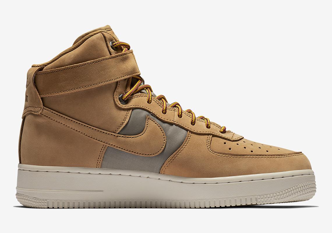 nike air force 1 high 525317 700 4 - Nike Air Force 1 High Wheat 525317-700 Release Info