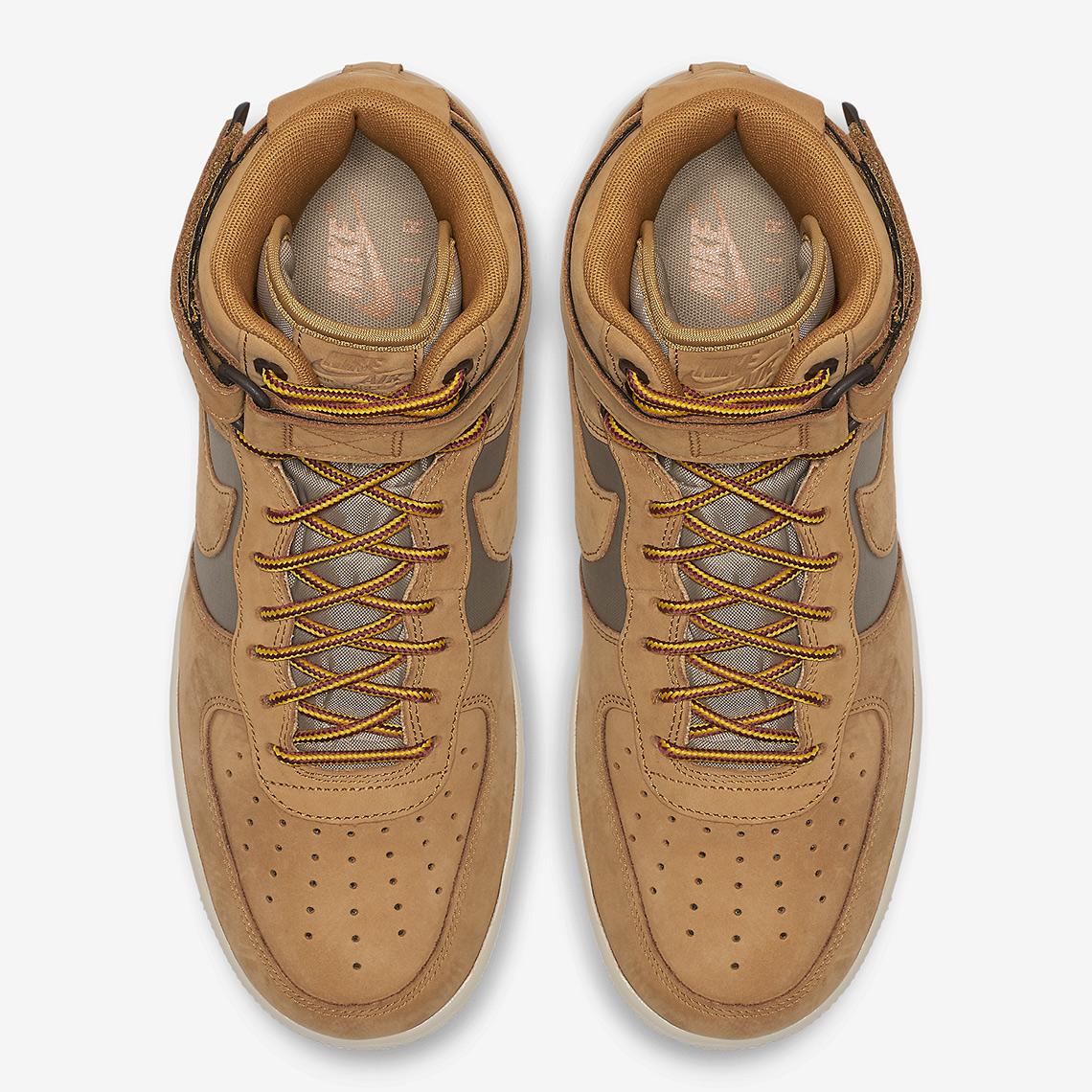 nike air force 1 high 525317 700 5 - Nike Air Force 1 High Wheat 525317-700 Release Info