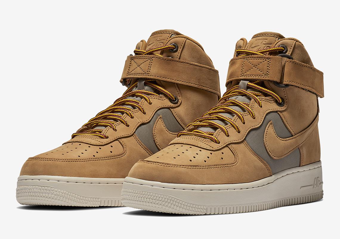 nike air force 1 high 525317 700 6 - Nike Air Force 1 High Wheat 525317-700 Release Info