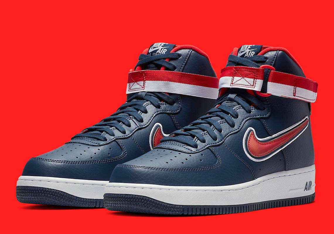 Nike Air Force 1 High Washington Wizards Av3938 400 Sneakernews Com