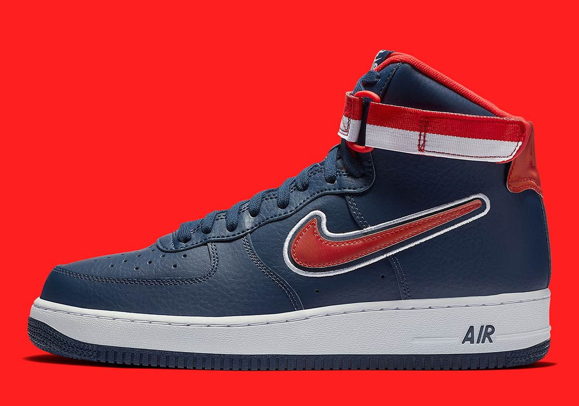 nike air force 1 high nba wizards av3938 400 3 - Nike Air Force 1 High Washington Wizards AV3938-400